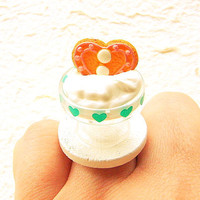 Miniature Food Ring Ice Cream Cookie Kawaii by SouZouCreations