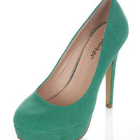 Sassy Green Court Shoe - Heels - Shoes - Miss Selfridge