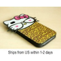 Leopard Big Head Hello Kitty Back Cover Case for iPhone4/iPhone4S