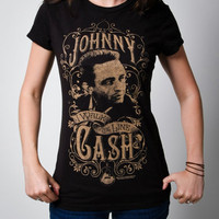 Johnny Cash 'I Walk The Line' Junior Fitted Tee