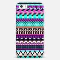 Cyan Magenta Aztec iPhone 5s case by Organic Saturation | Casetagram