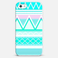 Bright Turquoise Tribal iPhone 5s case by Organic Saturation | Casetagram