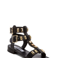Steve Madden Perfeck Sandal in Black & Gold from REVOLVEclothing.com