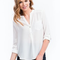 Perfect Basic Roll-Up Blouse