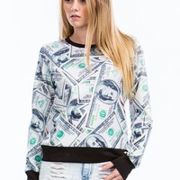 Raining Benjamins Graphic Sweatshirt