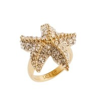 Crystal starfish ring - jewelry - Women&#x27;s new arrivals - J.Crew