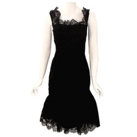Ceil Chapman - Ceil Chapman Vintage Black Lace Cocktail Dress, 1950