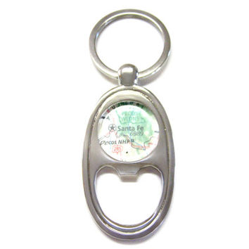 Santa Fe New Mexico Bottle Opener Key Chain