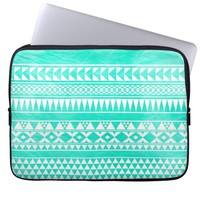 Turquoise Mint Green Girly Andes Aztec Pattern