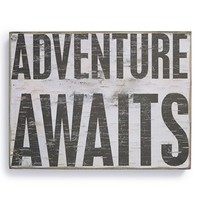 Primitives by Kathy 'Adventure Awaits' Box Sign