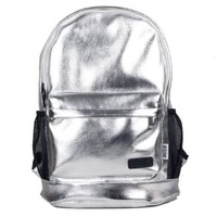 Fashion Silver School Travel Gym Shoulder Bag Backpack
