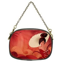 Sakura Asian Geisha Chain Purse (One Side)