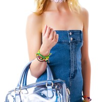 Naomi Holo Clear Satchel