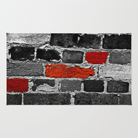 OTHER BRICKS IN THE WALL Area & Throw Rug by Catspaws