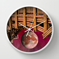 BAMBOO-ZLED Wall Clock by Catspaws