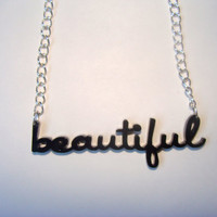 Beautiful Acrylic Typography Necklace