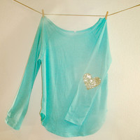 """NEW Sweatshirt w/Sequin Heart Elbow Patch Design Your Own """"Dazzle Patch"""" Now available in XL"""