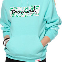 Diamond Supply Co. Blue Floral Hoodie