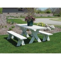 6 Foot Outdoor Table with Benches