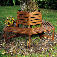 International Caravan Sectional Tree Trunk Bench