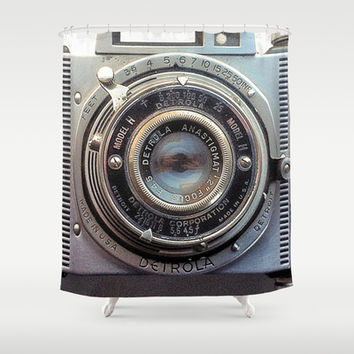 Detrola (Vintage Camera) Shower Curtain by RichCaspian | Society6