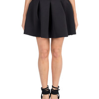 Pleated School Girl Flared Skirt