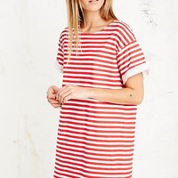Vintage Renewal Russian Stripe Dress in Red - Urban Outfitters