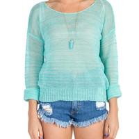 Knitted Spring Sweater - Green