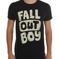 Fall Out Boy Floral Logo Slim-Fit T-Shirt