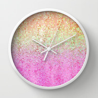 Summer Rain Wall Clock by Lisa Argyropoulos | Society6