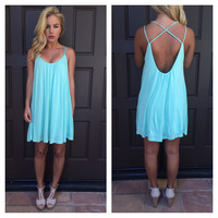 Jersey Mint to the Back Dress
