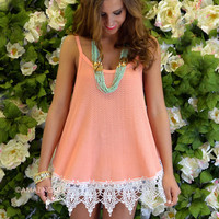 Harmony Coral Lace Trim Summer Top