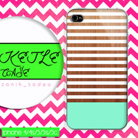 Geometric mint wood case, wood iphone case, iphone 4 case iphone 5c case, samsung gaxaly S3 case, samsung gaxaly S4 case