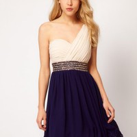 Chiffon One-shoulder Cocktail Dress