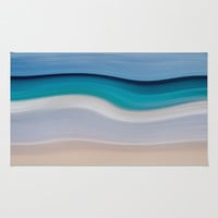 WAVESCAPE Area & Throw Rug by Catspaws | Society6