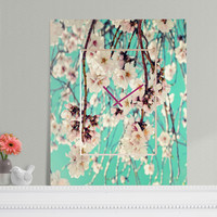 Lisa Argyropoulos Spring Showers Rectangular Clock