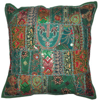 "20"" Large Decorative Throw Pillow for Couch, Embroidered Cushion Cover, Ethnic Pillow, Cottage Pillow, Tribal Pillow Outdoor sofa pillow"