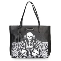 Bandana Skull Tote Bag with Tassels by Loungefly