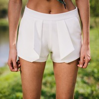 Spring Into White High Waisted Shorts - Lotus Boutique