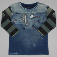 kapital - sunday football tee indigo