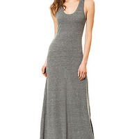 The Eco Racer Maxi Dress in Grey