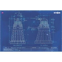 "Doctor Who - TV Show Poster (Dalek Blueprint) (Size: 36"" x 24"")"