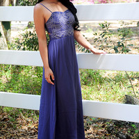 In The Stars Dress: Navy