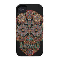 Unique Floral Sugar Skull Apple iPhone 4 Cover
