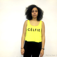 Celfie Crop Top | Selfie Crop Top | Celine Paris Tank Top