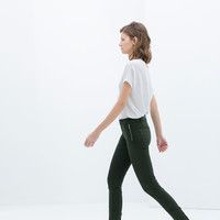TROUSERS WITH DETAILING ON HEM