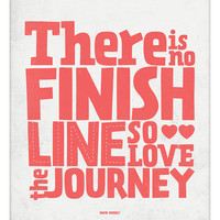 Inspirational Life Quote poster - Love the Journey - typography wall decor print A3