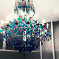 Buy1 Get1 Free Nursery chandelier teal wall art fairy by Raceytay