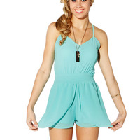Papaya Clothing Online :: CHIFFON CROSS STRING LAYERING ROMPER