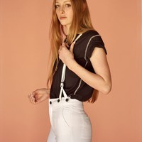 Courtshop White James Suspender Jeans